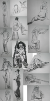 Clothed Figure Drawing Studies by bopx