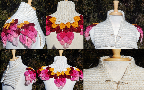 Golden Sweetheart Leaf Capelet by Arexandria