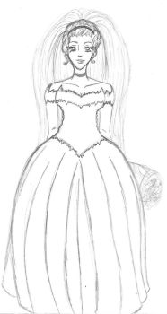 Wedding gown Cinderella's style by kamomillou