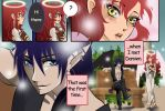 Lucy meets Damien for the first time by Izumii89