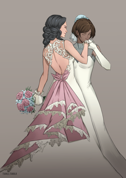 Korrasami wedding by Voena