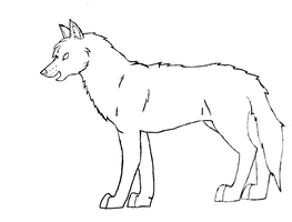 Wolf Lineart by Buggie1112