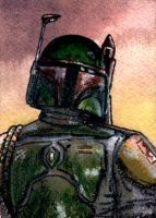Boba Fett Sketch Card ESB by geralddedios