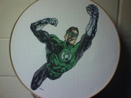 Green Lantern Cross-Stitch by saber4734