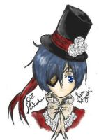 Ciel On Iscribble by KrystalVixen7