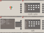 Kde Cork-1.4 - Theme released by samuaz