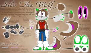 Silv The Wolf - Ref Sheet 2012 by SilverSonic44