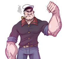 Popeye the sailorman by RainDante