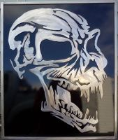 Metal Skull Finished by LadyDracos