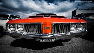 1970 Oldsmobile 442 Front by AmericanMuscle