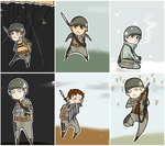 Band of Brothers: Doll Set 1. by uberrime