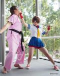 Sakura and Dan - Shoryuken Training by asdcvbtuym