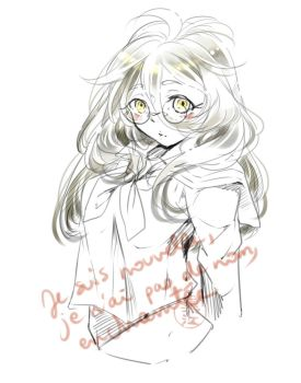 New character's chara design - first test. by mishakuroe