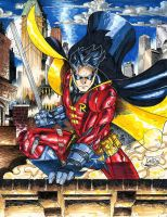 Robin- Tim Drake with exo-suit- COLORS by SaviorsSon