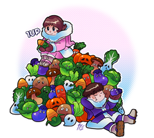 IC 30th Anniversary - Day 4 - Vegetables by TamarinFrog