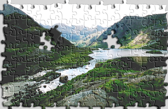 Puzzle Landscape by LewisWright