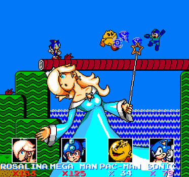 SSB4 Rosalina Pixel Art (with background thing) by geno2925