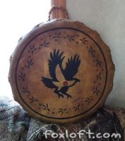 Eagle Tracks Totem Drum by Foxfeather248
