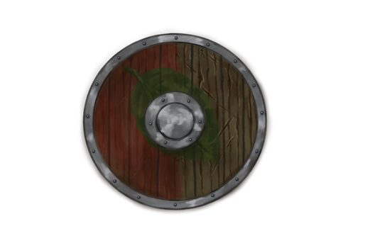 Wooden Shield by ashenmoons