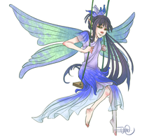 Fairy of July - Larkspur by SewnFlesh