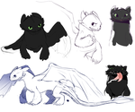 Toothless by Chowaa