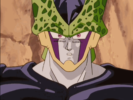 Dragon Ball Z Cell gif anger by cellik