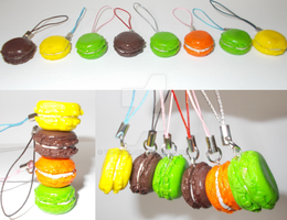 Macaroon Charms by yo-yo09