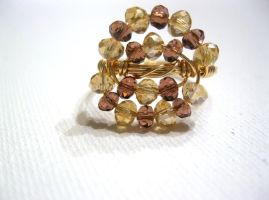 gold wire wrapped ring by faranway