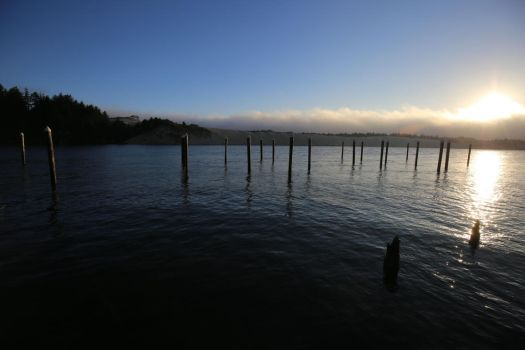 Siuslaw River at Florence by Caloxort