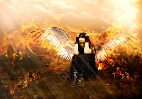Fallen Angel Burning by ChiaraLily9