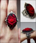 Ruby rose ring by Pinkabsinthe