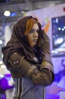Leliana cosplay at Comic Con Russia 2015 by Songbird-cosplay
