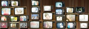 Wall of Televisions by Loops-Of-Fury