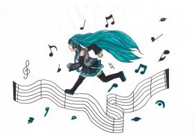 Keep Singing Miku by BloodyYangire