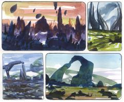 Watercolor Sketches 1 by SebastianWagner