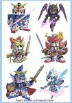 Mini SD Gundam Force Stickers and Special Art by Xzeit