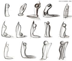 design sculpture sketches by ecco666