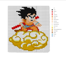 Kid Goku on Nimbus Pattern by H3LLoK66aren99