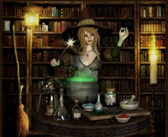 Weaving Spells by DigiCuriosityDesigns