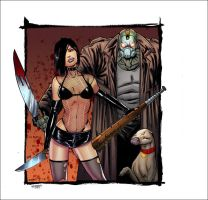 Hack Slash sketch card colors by SplashColors