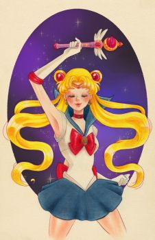Sailor Moon by Watertae