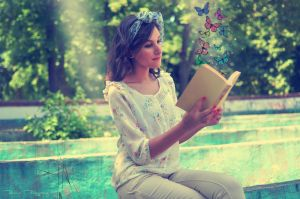 The book with butterflies by AnnOmar
