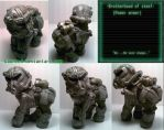fallout 3 Brotherhood of Steel Custom pony by daunted
