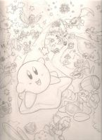 Kirby Superstar sketch by mattdog1000000