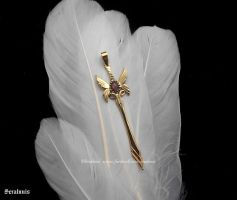 'Fairies sword', handmade brass pendant by seralune