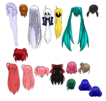 MMD Nakao Hair Pack 2 DL by 2234083174