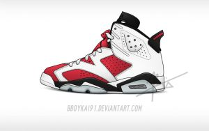 Air Jordan 6 'Carmine' by BBoyKai91