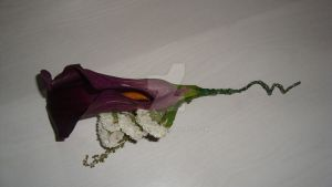 Calla lilly buttonhole by Haleema-A