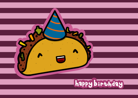 birthday taco by sooperdave