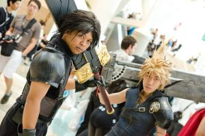 Zack and Cloud at Anime Expo by zackfair2002